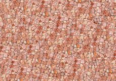 Seamless red stone wall. Stock Photography