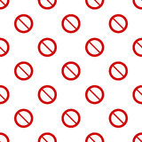 Seamless red stop sign pattern on white Stock Image