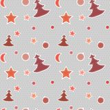 Seamless red vector pattern Christmas Royalty Free Stock Images