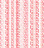 Seamless red vertical line fabric cloth Royalty Free Stock Photos