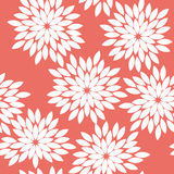 Seamless red vintage japanese floral kimono tenugui textile pattern vector Stock Images