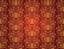 Seamless red vintage wallpaper