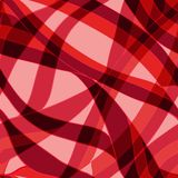 Seamless red wave hand-drawn pattern Royalty Free Stock Images
