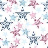 Seamless Red White and Blue Stars Background Abstract Pattern 1.  Stock Images