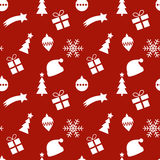 Seamless red and white christmas pattern Stock Image
