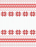 Seamless red and white knitted background Stock Photography