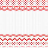 Seamless red and white knitted background Royalty Free Stock Images