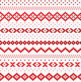 Seamless red and white knitted background Stock Image