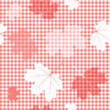 Seamless red and white pattern Stock Images