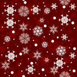 Seamless red winter snowflakes pattern background Stock Image