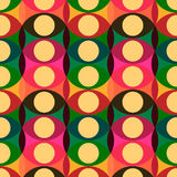 Seamless red yellow circles pattern Royalty Free Stock Images