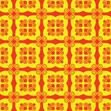 Seamless red and yellow pattern Stock Photos