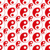 Seamless of red yin yang vector Royalty Free Stock Photos