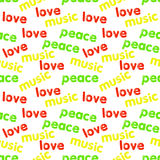 Seamless Reggae Pattern Stock Photography