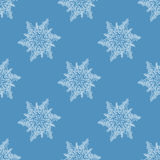 Seamless regular abstract snowflakes white blue gray shifted Royalty Free Stock Photo