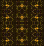 Seamless regular diamond and circles pattern brown yellow orange Stock Images