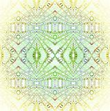 Seamless regular diamond pattern green yellow centered Royalty Free Stock Image