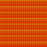 Seamless regular ellipses pattern red ocher brown yellow Royalty Free Stock Image