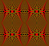 Seamless regular ellipses pattern red olive green and black dimensional Royalty Free Stock Photos