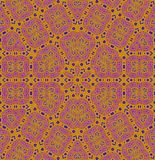 Seamless regular ornaments orange pink violet purple centered. Abstract geometric background, seamless hexagon pattern, pink, violet and purple ornaments with Royalty Free Stock Photography