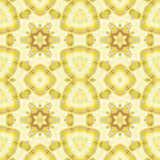 Seamless regular star pattern beige yellow ocher Royalty Free Stock Images