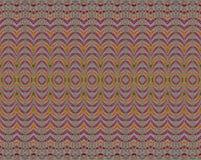 Seamless regular wave pattern red orange green vector illustration