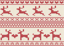 Seamless Reindeer Fair Isle Knit Stock Photography