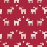 Seamless reindeer pattern. Christmas background design Royalty Free Stock Photos