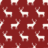 Seamless reindeer pattern. Seamless pattern, reindeer vector art  background design for fabric and decor Royalty Free Stock Photography