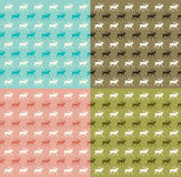 Seamless reindeer pattern Royalty Free Stock Photography