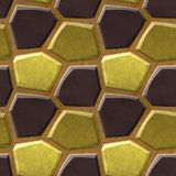 Seamless relief floor pattern of polygonal 3d stones in natural colors Stock Images