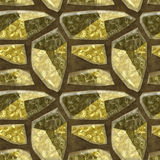 Seamless relief floor pattern of sharp polygonal stones with mottled structure Royalty Free Stock Photo