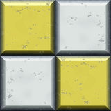 Seamless relief pattern of silver and gold squares with beveled edges Royalty Free Stock Photography