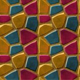 Seamless relief pavement pattern of stones Royalty Free Stock Images