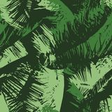 Seamless Repeat Palm Tree Canopy. Seamless pattern repeat of a palm tree canopy royalty free illustration