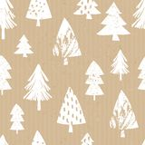 Craft Paper Christmas Pattern Royalty Free Stock Photo
