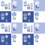 Patchwork flowers pattern Royalty Free Stock Photography