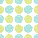 Seamless repeat pattern with polygonal shapes Stock Photography