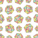 Seamless repeat pattern with polygonal shapes Stock Image