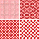 Seamless repeat pattern - set Royalty Free Stock Photos