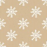 Craft Paper Christmas Pattern Royalty Free Stock Photos