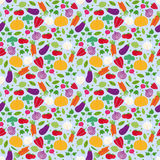 Seamless repeat vegetables Stock Image