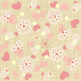 Seamless (repeatable) floral tulle background Stock Images