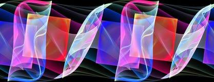 Seamless repeatable fractal border Stock Photos