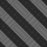 Seamless (repeatable) geometric abstract monochrome pattern. Til Royalty Free Stock Photos