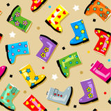 Seamless (repeatable) gumboots pattern Royalty Free Stock Images