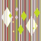 Seamless repeatable pattern with colored vertical lines and rhombuses. vector illustration