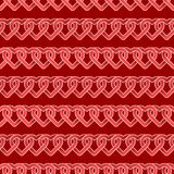 Seamless repeatable, pattern of Happy Valentine`s Day with hearts and love in red theme. Vector illustrationdesign Royalty Free Stock Photo