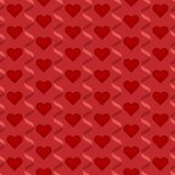 Seamless repeatable, pattern of Happy Valentine`s Day with hearts and love in red theme. Vector illustrationdesign Stock Images