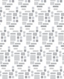 Seamless repeatable Square patterns greyscale vector Royalty Free Stock Photos